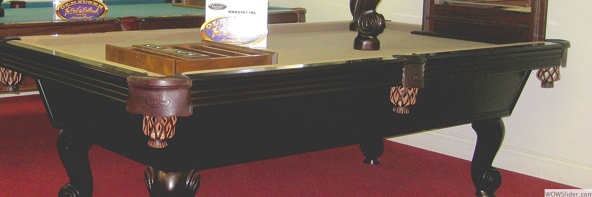 We feature a large variety of Olhausen pool tables.